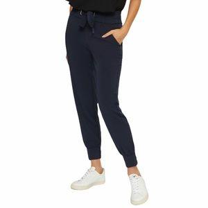 Dynamite Sasha Belted Jogger Pants in Navy Blue